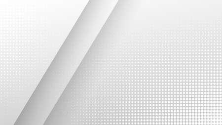 Halftone light gray geometric background. Vector minimal trendy backdrop for presentations, banners Ilustracja