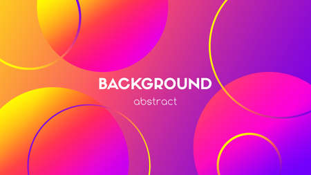Abstract vector background. Colorful gradient circles, spheres. For motion design background Ilustracja