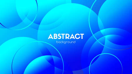 Blue circles abstract background. Vector gradient spheres. Trendy elements for motion design