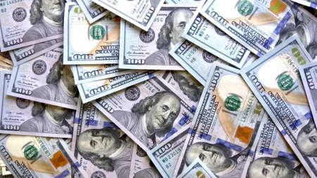 Money background. Hundred US dollar bills. Close up of new dollar banknotes Zdjęcie Seryjne