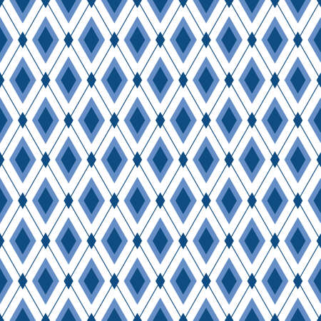 Blue diamond seamless pattern. Strict elegant trendy background for male design. Fabric print, wallpaper, package