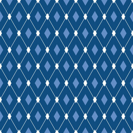 Vector seamless male pattern. Blue diamonds abstract background. For fabric print, wallpaper design