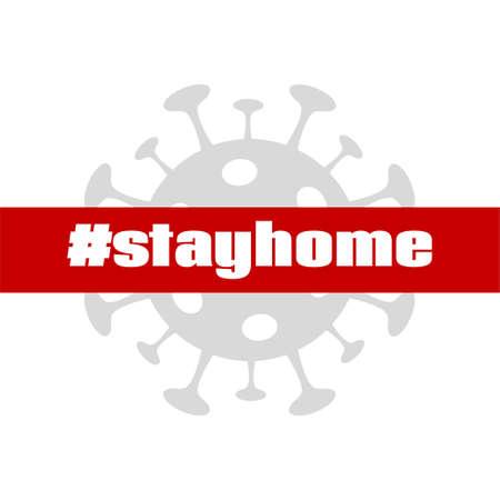 Stay home. Coronavirus quarantine vector banner for social media
