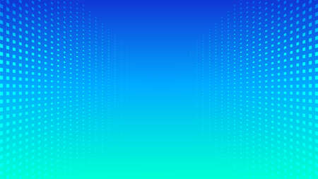 Abstract halftone perspective blue gradient minimal background. Vector trendy backdrop for presentations, banners Vectores