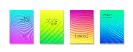 Gradient colorful minimal vector backgrounds. Abstract striped bright covers, banners, flyers backdrops