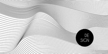Wavy lines minimal vector white background. Abstract backdrop for business presentations, banners, flyers