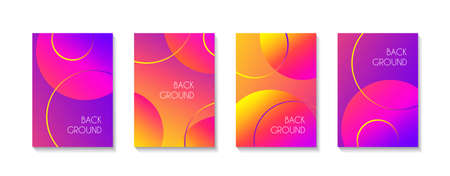 Abstract colroful gradient background with circles. Vector bright covers for magazines, brochures, flyers, banners