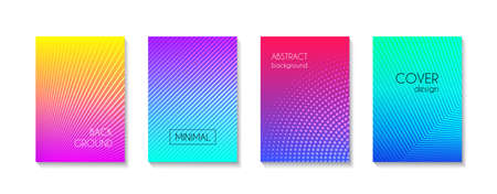 Abstract minimal vector cover templates. Trendy bright colorful gradient backgrounds for banners, flyers, presentations Illustration