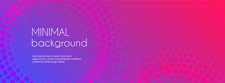 Abstract of gradient colorful long banner. Illustration