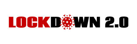 Lockdown 2.0 vector banner on white Illustration