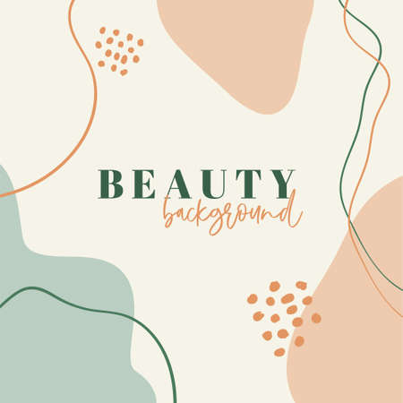 Abstract vector organic background for social media with copy space for text. Illustration