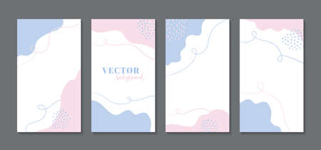 Abstract templates  , social media stories. Vector minimal vertical backgrounds with copy space for text Illusztráció