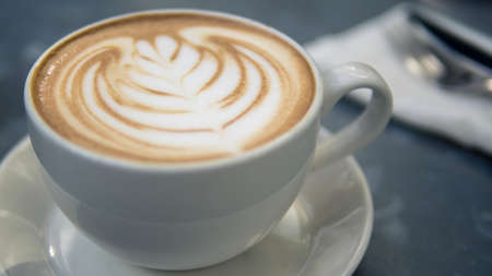 Cappuccino coffee is invigorating and refreshing.