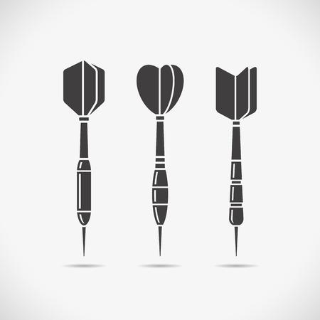 darts: Darts icons. Illustration