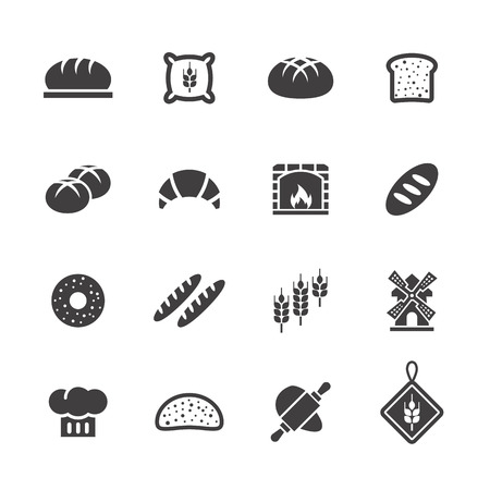 gastronomy: Bakery Bread icons.