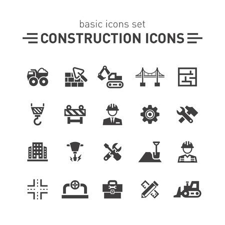 camion grua: Iconos de la construcción.