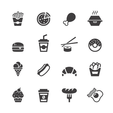 Fast food icons.