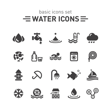 Water icons.