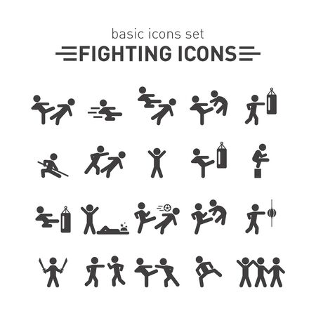 Fighting icons.