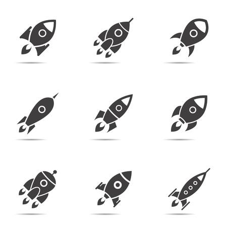 Rocket icons. Ilustração