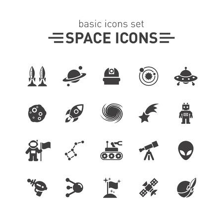 Iconos del espacio.