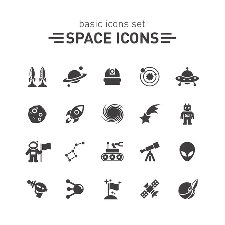 space: Space icons.