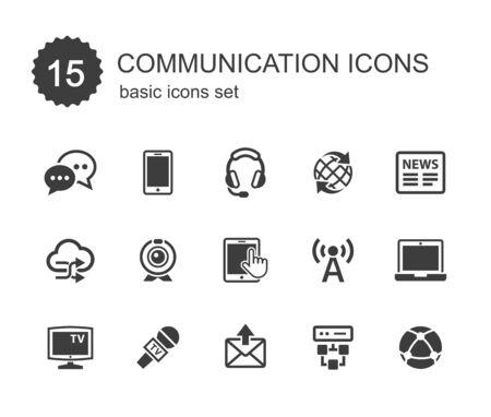 communication icons: Communication icons. Illustration