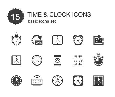 reloj: Iconos del tiempo y despertador.