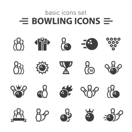 Bowling icons.