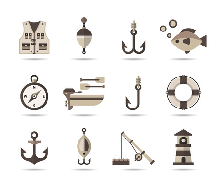 Fishing icons.