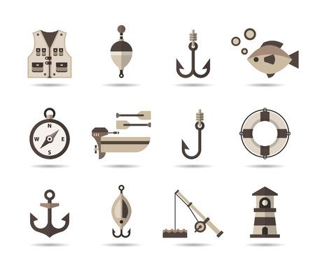 barca da pesca: Icone di pesca.