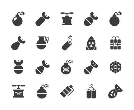 Bomb pictogrammen.