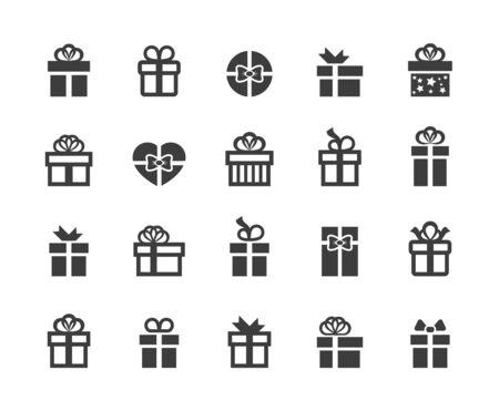 선물 상자 아이콘.