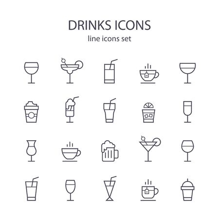 gastronomy: Drinks icons.