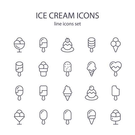 아이스크림 아이콘입니다. 일러스트