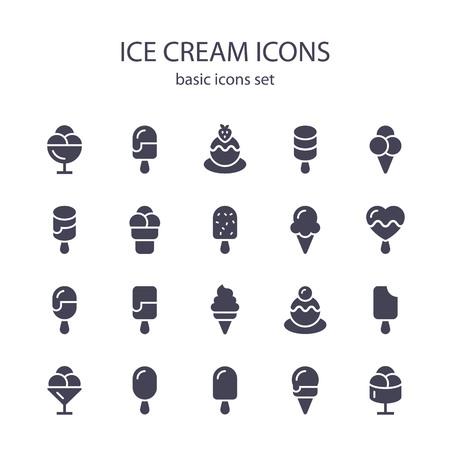 Ice cream icons. Ilustração