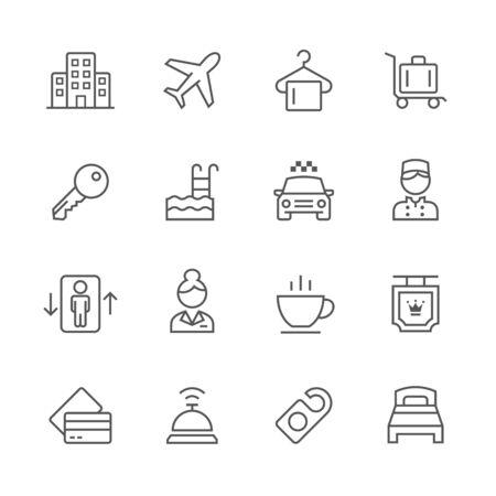 Hotel icons. Ilustração