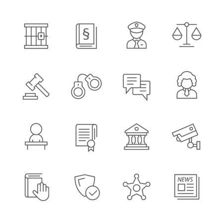 Justice icons. Ilustração