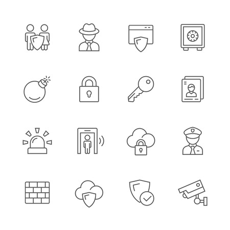 internet protection: Security icons.