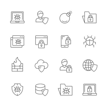 Internet security icons.