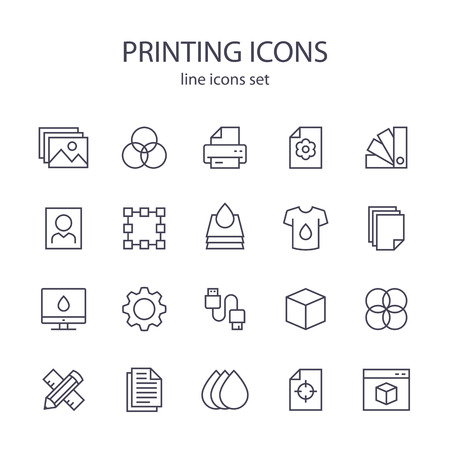 icons: Printing icons.