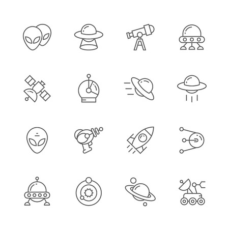 icons: Space icons.