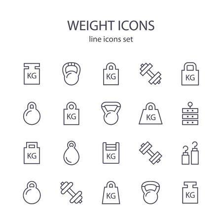 icons: Weight icons.