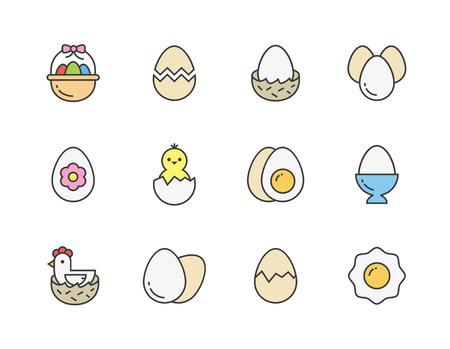 계란 아이콘 일러스트
