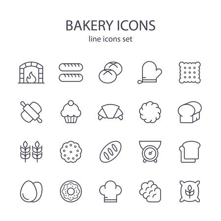 Bäckereiikonen. Standard-Bild - 64317267