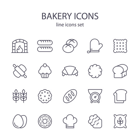 icons: Bakery icons.