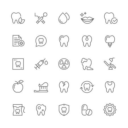 Dental icons. Ilustração