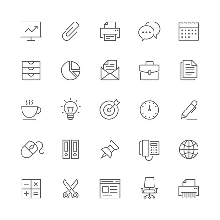 icons: Office icons.
