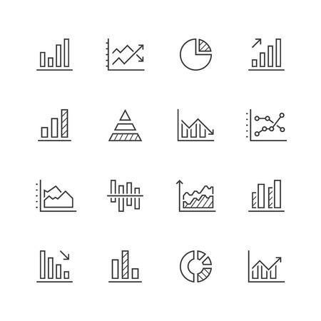 Diagram line icons.
