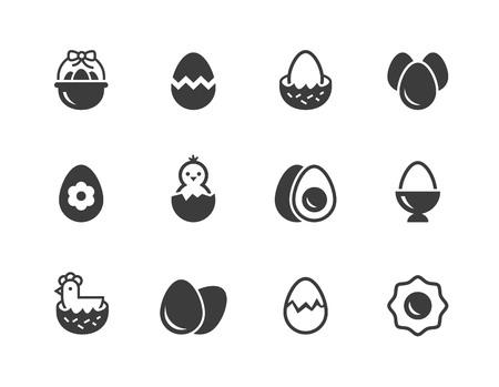 Eggs icons.